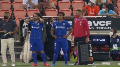 Debuta JJ Macías en España con el Getafe; ingresó al minuto 67 ante Valencia