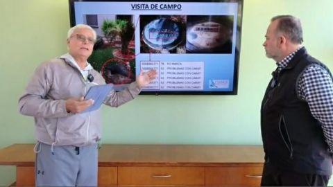 Presidente de COPARMEX Mexicali esconde su medidor para no pagar agua