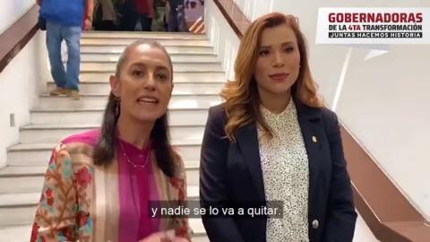 Marina del Pilar aparece con Claudia Sheinbaum en apoyo a Layda Sansores