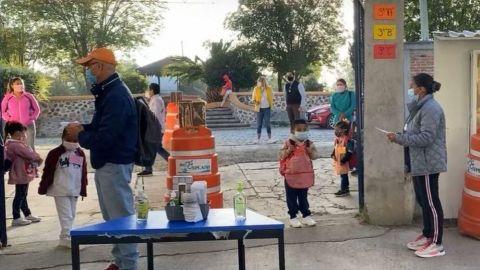 En Querétaro, realizan simulacros para retorno presencial a clases ante covid-19
