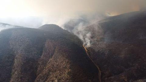 Calor e incendios en Ensenada