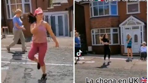 📹 VIRAL: Mexicana pone a sus vecinos a bailar 'La Chona' en Inglaterra