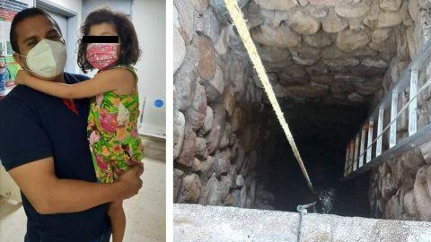 Niña de 5 años sobrevive tras caer a un pozo de 8 metros en Los Cabos
