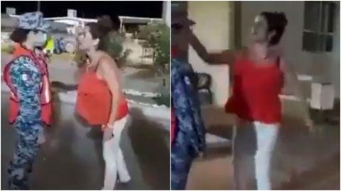 En Sonora, mujer golpea a una militar que le negó el paso al baño