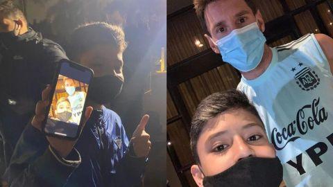 Niño brasileño burló la seguridad y se tomó foto con Messi
