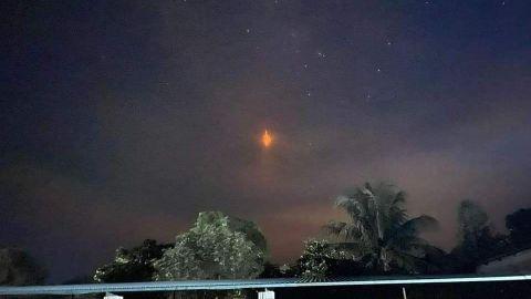 Reportan la aparición de una extraña luz roja en Oaxaca