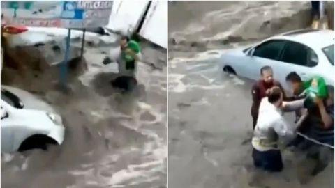 🎥 Así lograron salvar a bebé de ser arrastrado por la corriente