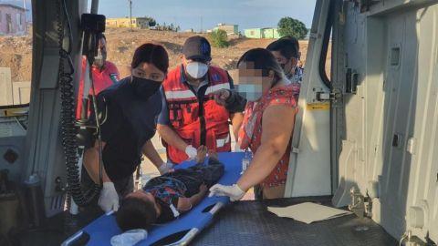 Realizan evacuación médica de un menor de  siete años en Isla Cedros