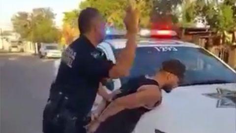 VIDEO: Policía de Mexicali ''sopapea'' a detenido