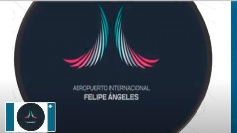 """Se olvidan de los mamuts y estrenan nuevo logo del Aeropuerto """"Felipe Ángeles"""""""