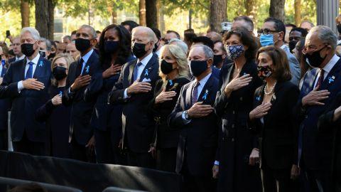 Joe Biden conmemora el aniversario del 11 de septiembre con homenajes