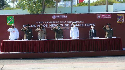 Conmemoran el 174 Aniversario de la gesta heroica de los Niños Héroes