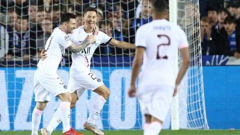 Amargo debut de Messi en Champions League; PSG empata a 1 con Brujas