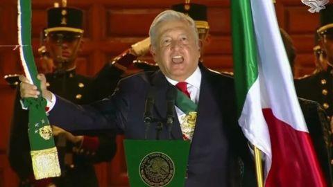 '¡Vivan las culturas del México prehispánico!', grita AMLO en el Zócalo