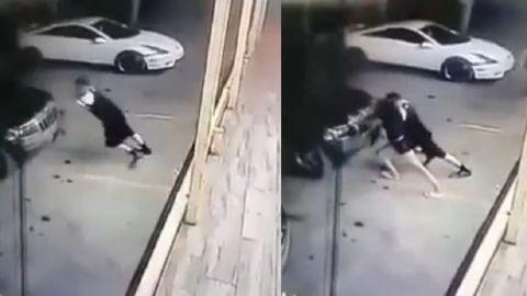 FUERTE VIDEO: Mujer trata de empujar la camioneta de su amiga y muere