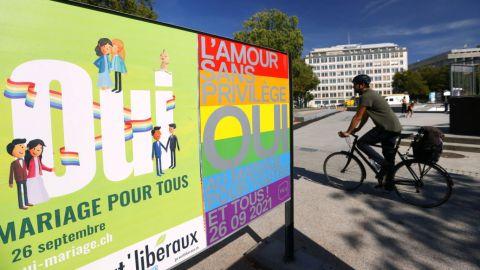 Suiza aprueba legalización del matrimonio entre personas del mismo sexo