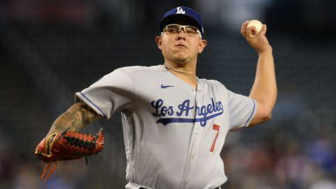 El pitcher sinaloense Julio Urías llegó a 19 triunfos con los Dodgers