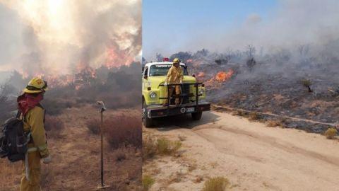 Cerrada autopista a Tecate por incendio