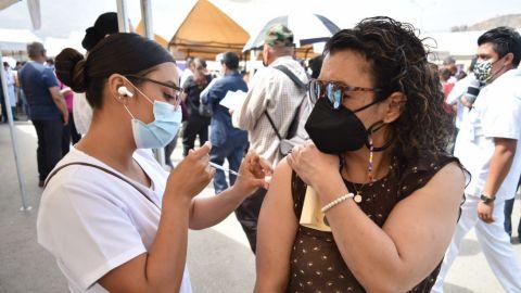 Continúa aplicación de primera dosis de vacuna anticovid en Tijuana