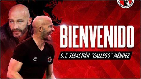 Xolos anuncia a Sebastián 'Gallego' Méndez como su nuevo entrenador