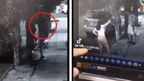 Hombre se hace viral por huir de esposa con caguama en mano; vecinos lo delatan