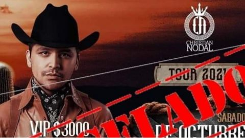 Cancelado definitivamente el concierto de Christian Nodal en El Valle