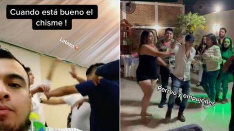 📹 VIDEO: Colados en fiesta de cumpleaños se emborrachan y desatan pelea