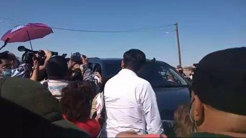VIDEO: Así recibieron a AMLO en su visita a Mexicali