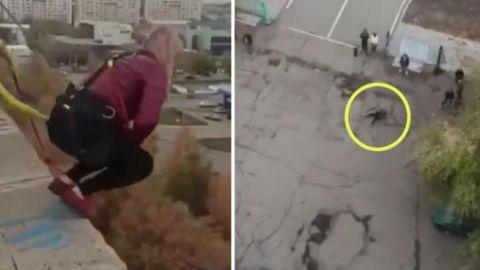 🎥 Mujer de 33 muere al lanzarse de un bungee, era madre de 3 menores