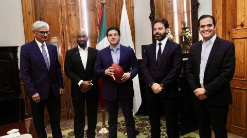 Samuel García anuncia nuevo estadio de fútbol y partidos de NFL en Nuevo León