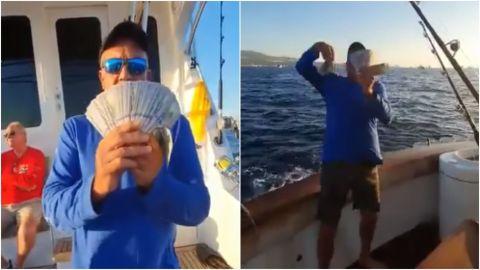 📹 VIDEO: Hombre arroja 10 mil dólares al mar de Cabo San Lucas