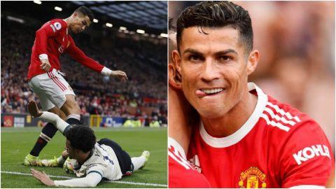 🎥 ¿El berrinche de Cristiano Ronaldo? Pateó al rival en pleno partido