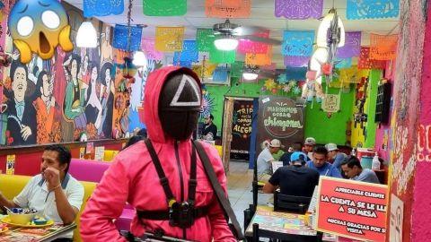 Replican ''El juego del calamar'' en fondita de Monterrey